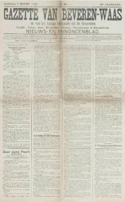 Gazette van Beveren-Waas 07/03/1909