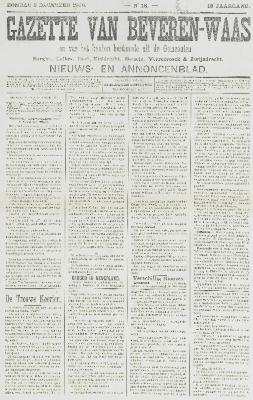 Gazette van Beveren-Waas 09/12/1900