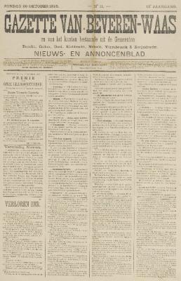 Gazette van Beveren-Waas 20/10/1895