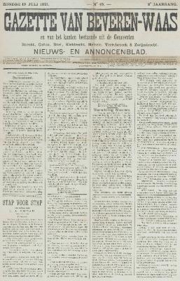 Gazette van Beveren-Waas 19/07/1891