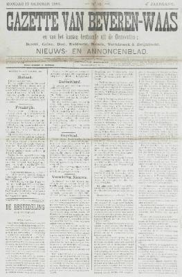 Gazette van Beveren-Waas 17/10/1886