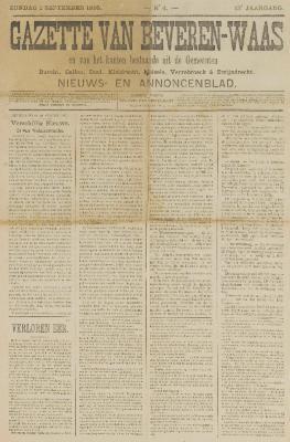 Gazette van Beveren-Waas 01/09/1895