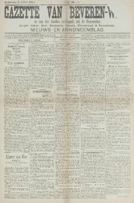 Gazette van Beveren-Waas 09/07/1911