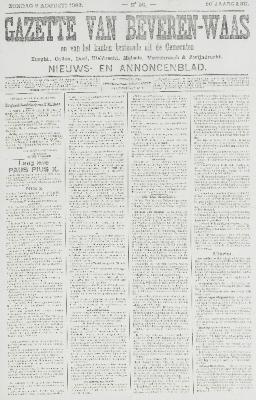 Gazette van Beveren-Waas 09/08/1903