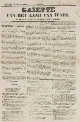 Gazette van het Land van Waes 08/02/1846