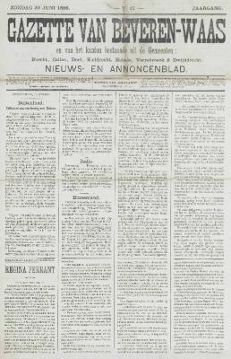 Gazette van Beveren-Waas 20/06/1886