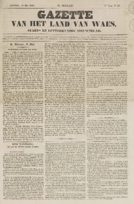 Gazette van het Land van Waes 10/05/1846