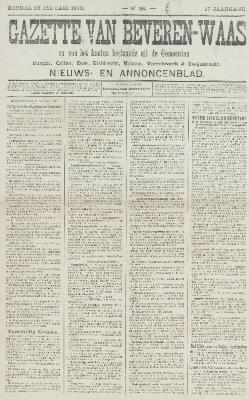 Gazette van Beveren-Waas 28/01/1900