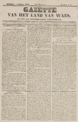 Gazette van het Land van Waes 01/02/1846