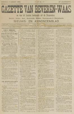 Gazette van Beveren-Waas 06/03/1898
