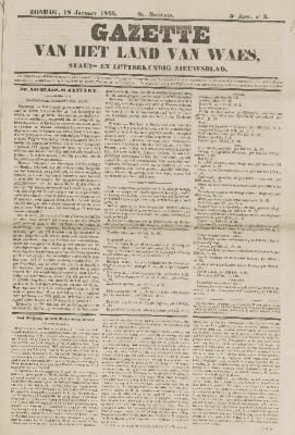 Gazette van het Land van Waes 18/01/1846