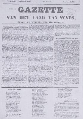 Gazette van het Land van Waes 16/10/1842