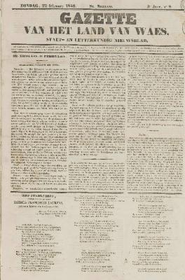 Gazette van het Land van Waes 22/02/1846