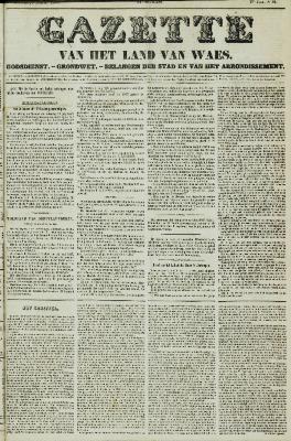 Gazette van het Land van Waes 08/08/1858