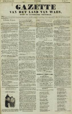 Gazette van het Land van Waes 20/01/1856