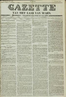 Gazette van het Land van Waes 22/08/1858