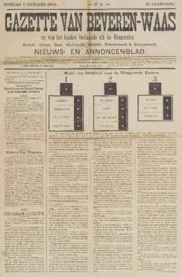 Gazette van Beveren-Waas 07/10/1894