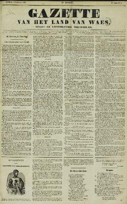 Gazette van het Land van Waes 03/02/1856