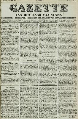 Gazette van het Land van Waes 17/10/1858