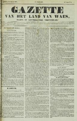 Gazette van het Land van Waes 21/01/1855