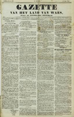 Gazette van het Land van Waes 21/06/1857