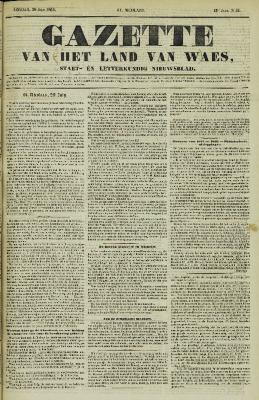 Gazette van het Land van Waes 30/07/1854