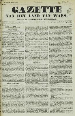 Gazette van het Land van Waes 28/01/1855