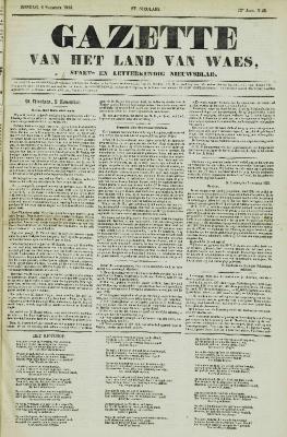 Gazette van het Land van Waes 06/11/1853