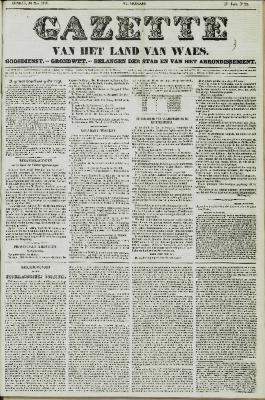 Gazette van het Land van Waes 30/05/1858