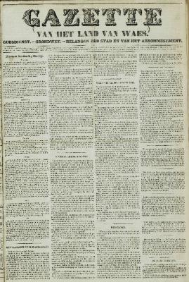 Gazette van het Land van Waes 07/11/1858