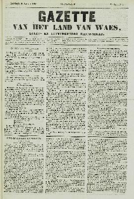 Gazette van het Land van Waes 30/01/1853