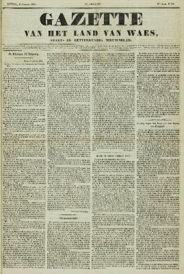 Gazette van het Land van Waes 16/08/1857