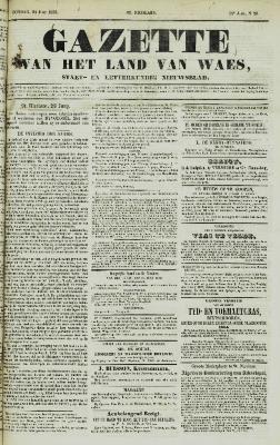 Gazette van het Land van Waes 24/06/1855