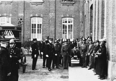 Brandweer Sint-Niklaas tijdens begrafenis