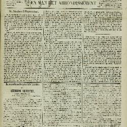 Gazet van St. Nicolaes 04/09/1853