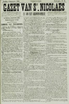 Gazet van St. Nicolaes 05/09/1858