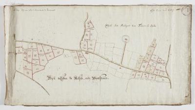 Wijkkaart regio Haasdonk (Zandstraat) en Melsele