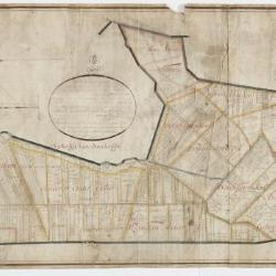 Polderkaart van de dijkage van Kallo