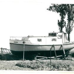 Schip aan de haven van Kallo