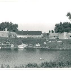 Stenen beer - links van Fort Liefkenshoek