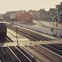 Spoorlijn 59 Perrons oud station Sint- Niklaas