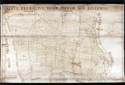 Figuratieve kaart van Elversele, 1716