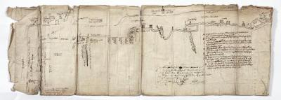 Schematische kaart van de Schelde tussen Temse en Kallo