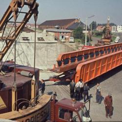 Spoorlijn 59 Bouw spoorwegbrug Vijfstraten Sint- Niklaas