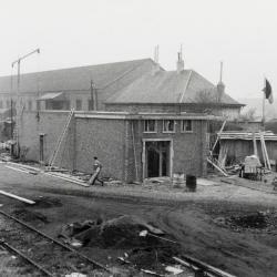 Spoorlijn 59 Bouw NMBS voedingsstation Vijfstraten