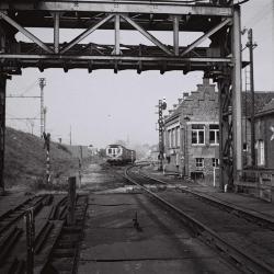 Spoorlijn 59 Station Lokeren, vertrek dieselmotorwagen