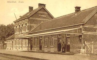 Prentkaart Spoorlijn 59 station Melsele