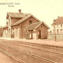 Prentkaart Spoorlijn 59 station Nieuwkerken