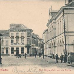 Prentkaart Spoorlijn 59 station Sint- Niklaas 1903