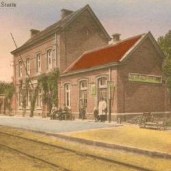 Prentkaart Spoorlijn 57a station Klein Sinaai